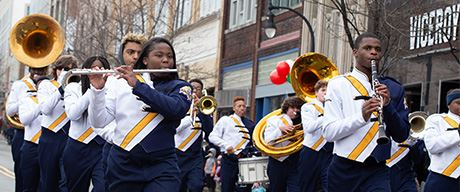 Hometown Band at Holiday Parade